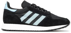 adidas Forest Grove Shell-paneled Striped Suede Sneakers