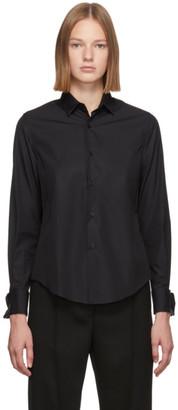 Noir Kei Ninomiya Black Cotton Cufflink Shirt