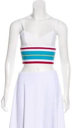 Herve Leger Striped Crop Top