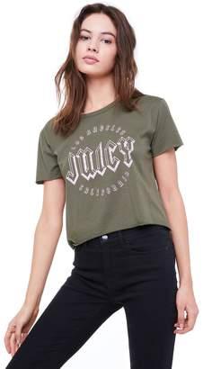 Juicy Couture JXJC Emblem Logo Graphic Tee