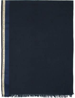 Stella McCartney Navy Monogram Scarf