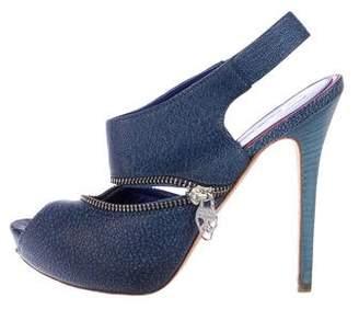 Alexander McQueen Leather Slingback Sandals