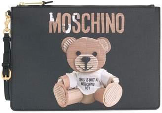 Moschino Toy Bear portfolio clutch