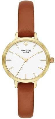 Kate Spade Women's Metro Leather Strap Watch, 30mm