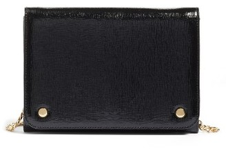 Women's Nordstrom Leather Wallet On A Chain - Black $99 thestylecure.com