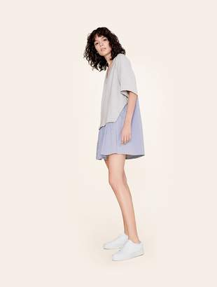 White + Warren Layered Poplin Dress