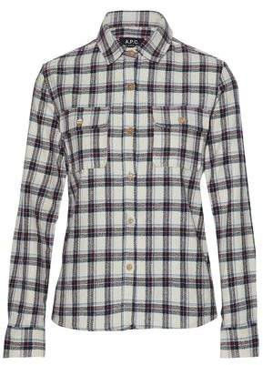 A.P.C. Checked Cotton-Blend Shirt