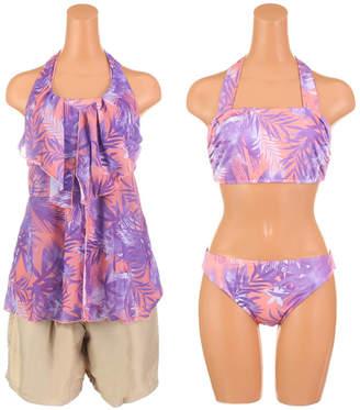 Munsingwear (マンシングウェア) - サンアイリゾート サンアイミズギラクエン 【Munsingwear】リーフプリントビキニ4点セット
