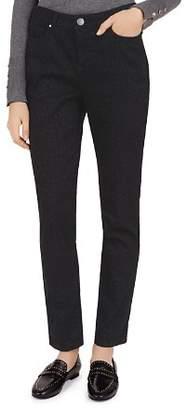 Gerard Darel Gene Tonal Leopard Print Slim Jeans in Black