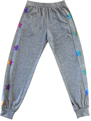 Terez Rainbow Star Foil Jogger Pants, Size 7-16