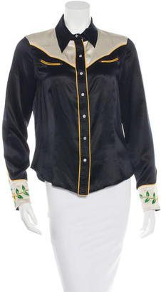 Marc by Marc Jacobs Silk Western Button-Up $125 thestylecure.com