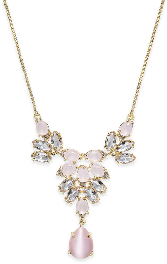 Kate Spade kate spade new york Gold-Tone Stone and Crystal Statement Necklace