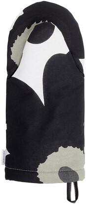 Marimekko Unikko Oven Glove - White/Black/Olive