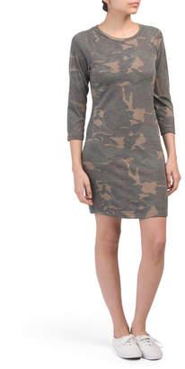Juniors Jersey Camo Dress