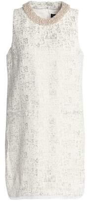 Rachel Zoe Faux Pearl-Embellished Metallic Jacquard Mini Dress