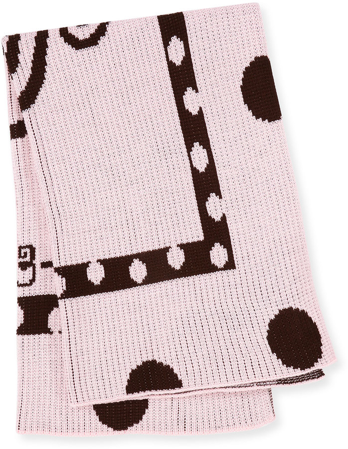 Butterscotch Blankees Polka-Dot Knit Blanket, Pink
