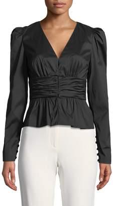 Tracy Reese Women's Shirred Cummerbund Jacket
