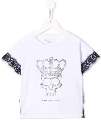 John Galliano rhinestone-embellished T-shirt
