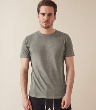 Reiss KENNY MELANGE CREW NECK T-SHIRT Sage