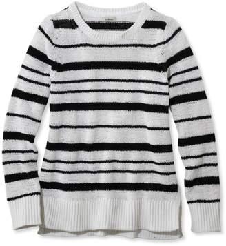 L.L. Bean L.L.Bean Soft Tape-Yarn Sweater, Pullover Stripe