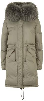 Mr & Mrs Italy Fur Trim Down Parka