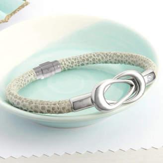 6005802f51781b Hurleyburley Personalised Infinity Clasp Leather Bracelet