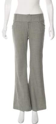 Alice + Olivia Wool Mid-Rise Wide-Leg Pants