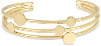 BCBGeneration BCBG Gold-Tone Disc Multi-Row Cuff Bracelet