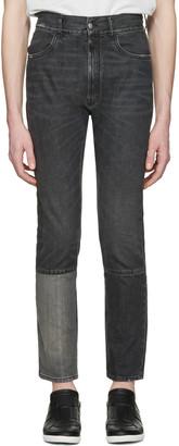 Maison Margiela Black Patchwork Jeans $640 thestylecure.com