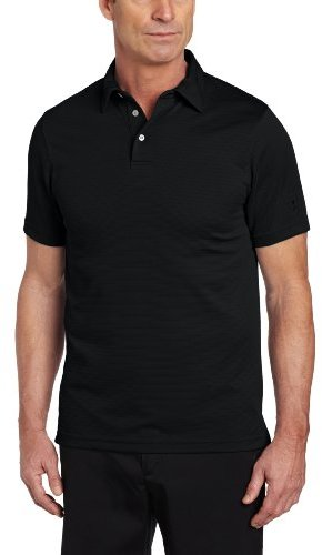 PGA TOUR Men's Short Sleeve Fitted Varigated Ottoman Solid Polo Shirt