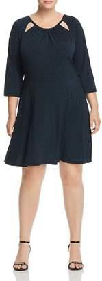 MICHAEL Michael Kors Cutout Polka Dot Dress