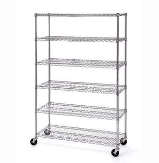 Seville Classics 6-Tier UltraZinc NSF Steel Wire Shelving with Wheels