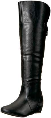 Brinley Co. Women's Wing Over The Over The Knee Boot