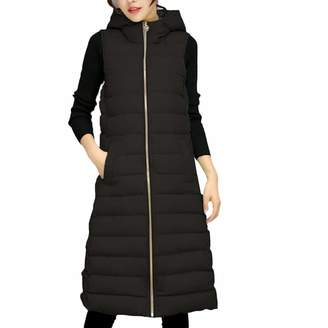 60072c5dafdbf Pervobs Women Parkas&Down Jacket Pervobs, Women Outerwear Solid Sleeveless  Fur Hooded Padded Zipper Pocket Jackets
