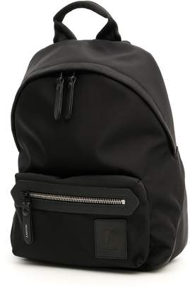 Lanvin Nylon And Leather Backpack