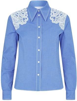 Chloé Lace Trim Check Shirt