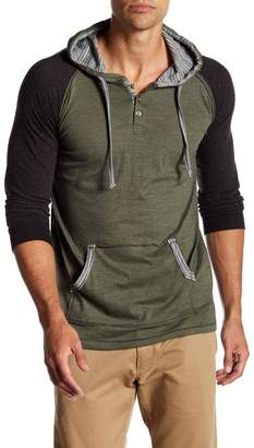 Burnside Colorblock Long Sleeve Henley Hoodie