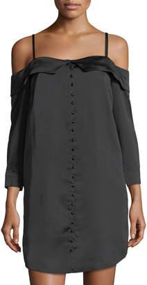 Kensie Cold-Shoulder Shirtdress