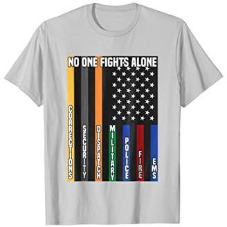 American Flag No One Fights Alone Pride Ems Police T-Shirt