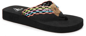 Corkys Carmel Toddler & Youth Wedge Flip Flop - Girl's