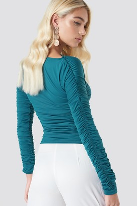 Na Kd Trend Ruched Sleeve LS Top