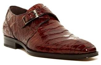 Mezlan Gables Genuine Crocodile Monk Strap Shoe $795 thestylecure.com