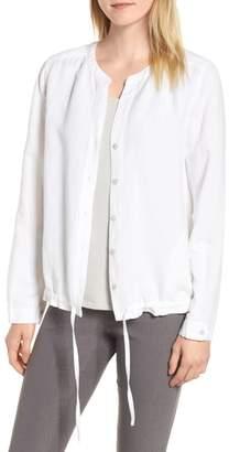Nic+Zoe Homebound Linen Blend Drawstring Jacket