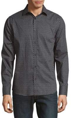Karl Lagerfeld Polka Dot Button-Down Shirt