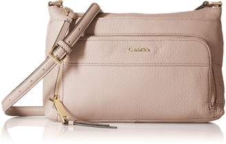 Calvin Klein Top Zip Pebble Leather Crossbody