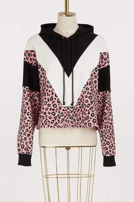Vivetta Cotton leopard hoodie