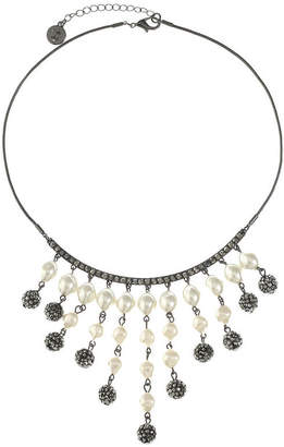 Liz Claiborne Womens Gray Statement Necklace