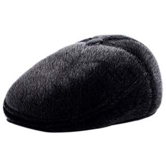 f208cbc414d XRDSS Winter Men¡ ̄s Irish Flat Cap Tweed Ear Flap Hat Soft Faux Fur Hunting