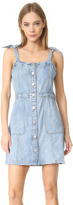 La Vie Rebecca Taylor Strappy Denim Dress $295 thestylecure.com