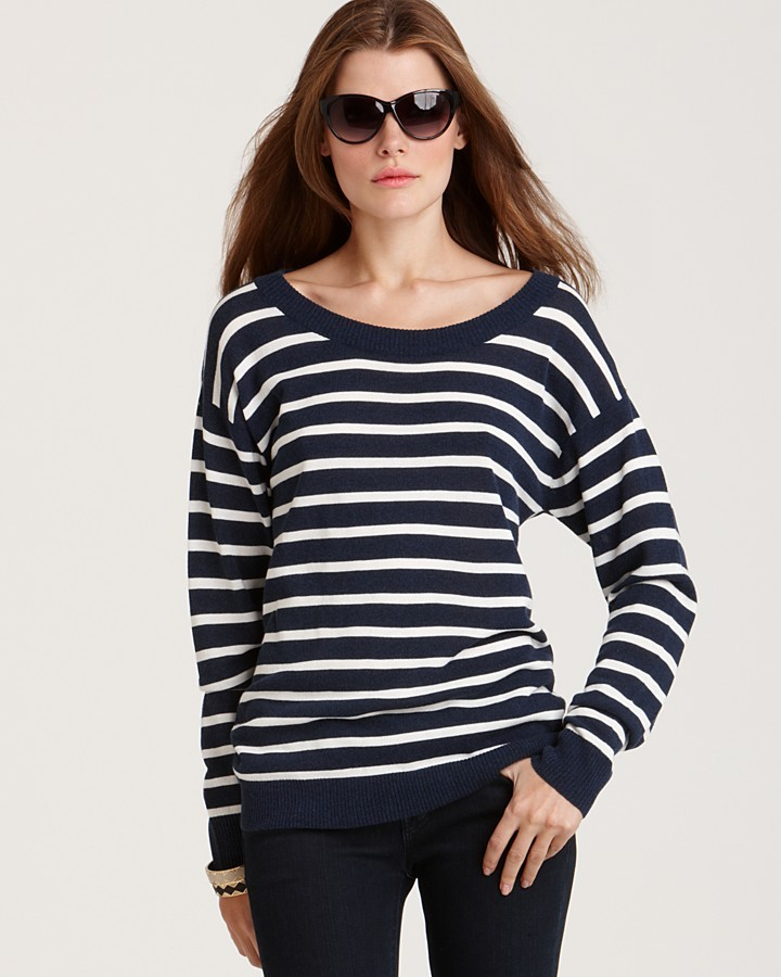Aqua Crewneck Stripe Sweater